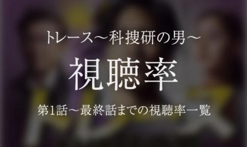 トレース~科捜研の男~ 視聴率